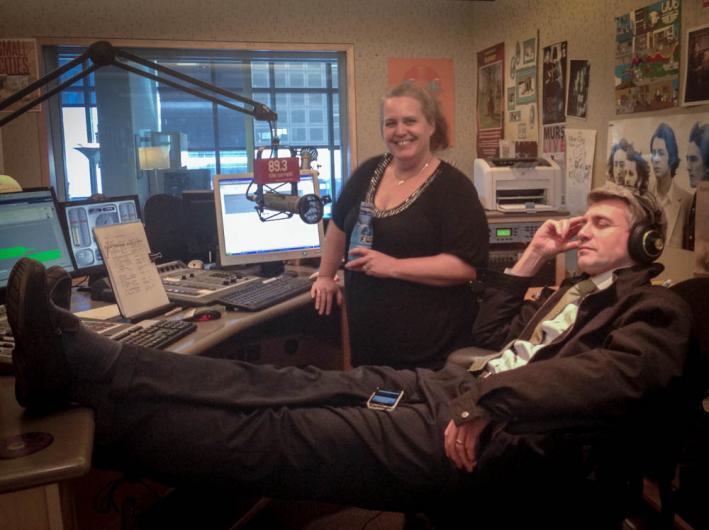 Minneapolis Mayor RT Rybak kicks back with Barb Abney