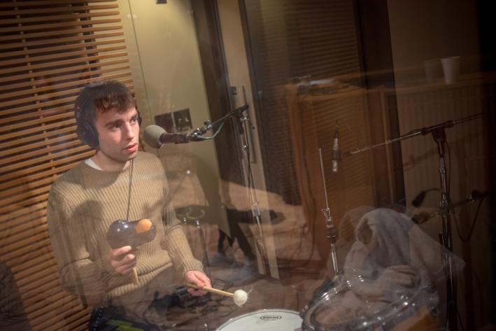 Drummer Dylan Lynch of Little Green Cars.