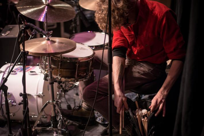 Dawes drummer Griffin Goldsmith at 89.3 The Current.