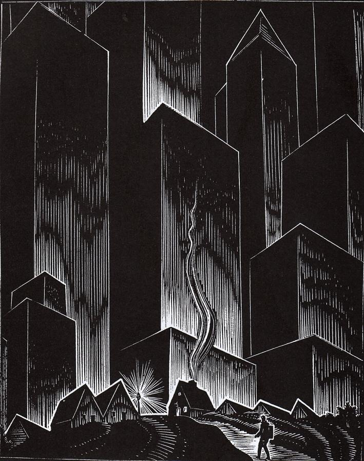 A woodcut from Gods' Man by Lynd Ward
