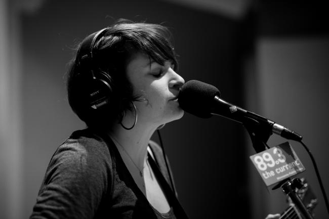 Lucy Michelle performs in The Current studios