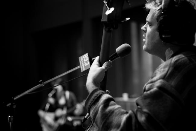 John Munson performs with Lucy Michelle in The Current studios