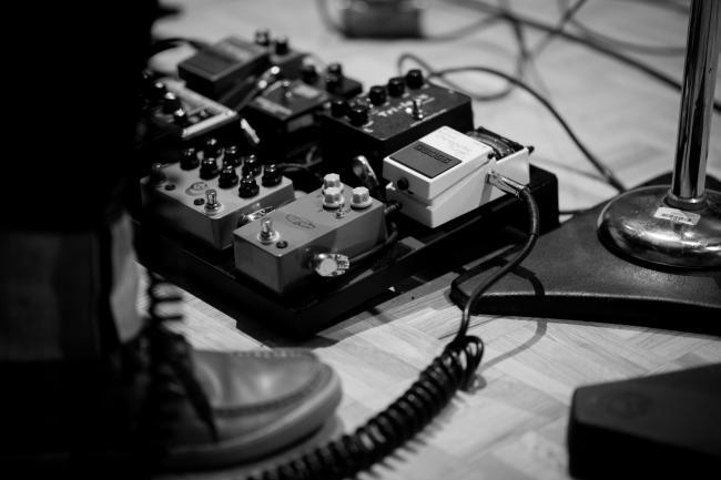 Tyler Burkum's effects pedals