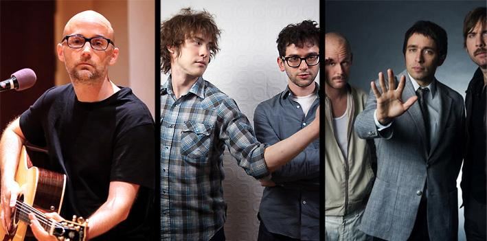 Moby, MGMT and Peter Bjorn and John.