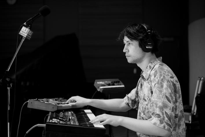 Palma Violets keyboardist Jeffrey Peter Mayhew in The Current studio.