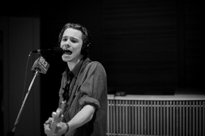 "Palma Violets bassist Alexander ""Chilli"" Jesson in The Current studio."