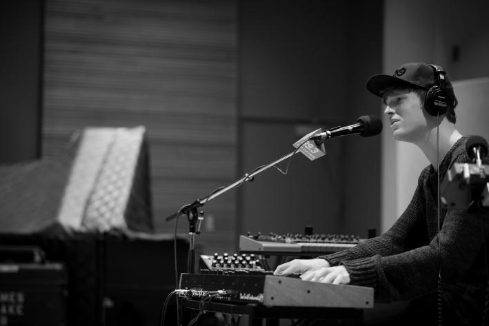 UK producer/singer James Blake in The Current studio.