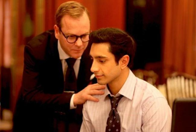 Kiefer Sutherland and Riz Ahmed in 'The Reluctant Fundamentalist', directed by Mira Nair.