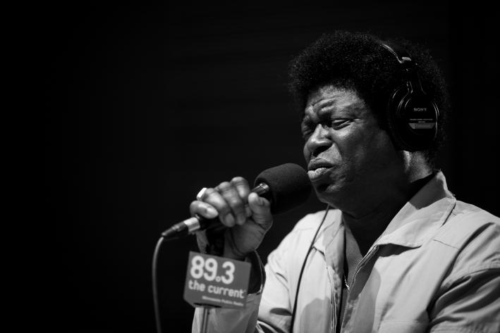 Charles Bradley in The Current studio.