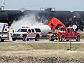 Truck-train collision