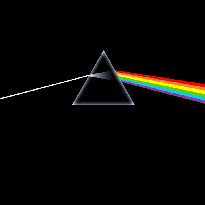 Storm Thorgerson's iconic sleeve for Pink Floyd's Dark Side of the Moon.