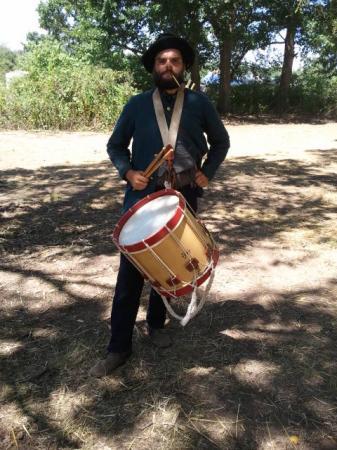 Luke Friedrich (of Minneapolis band Crimes) in his Civil War reenactment costume.