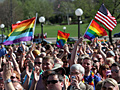 Crowds cheer marriage bill