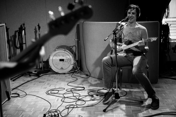 Portland indie-rockers the Thermals in The Current studio.