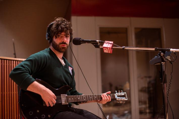 Yannis Philippakis of Foals in The Current studio.