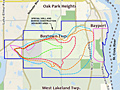 Groundwater contamination map
