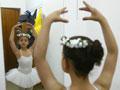 Iraqi child practicing ballet
