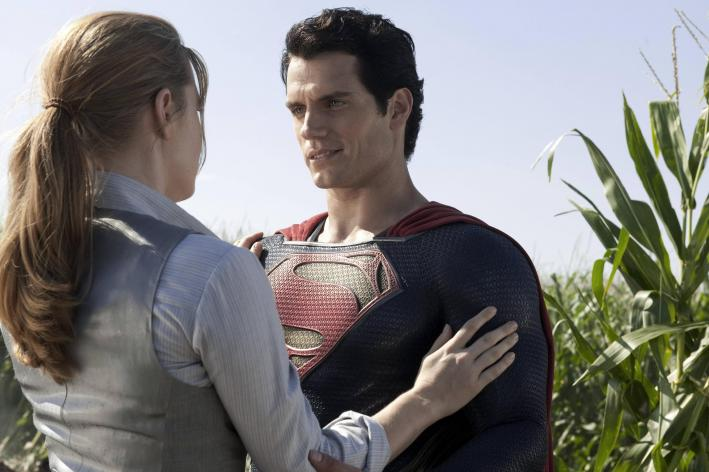 Amy Adams and Henry Cavill in 'Man of Steel', directed by Zack Snyder.