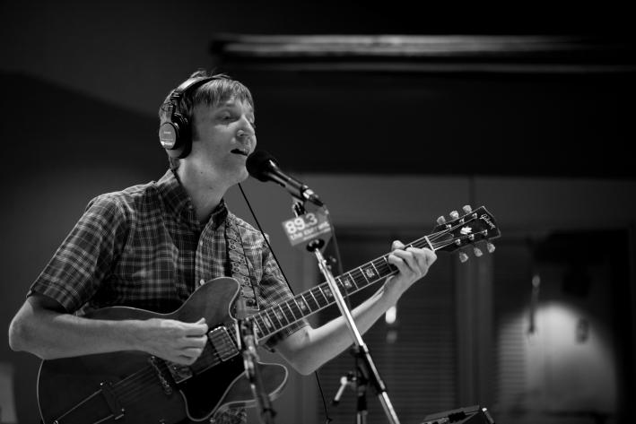 Brian Tighe of The Hang Ups performing live in The Current studios