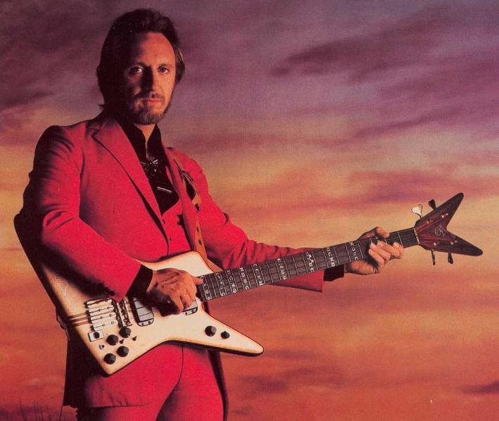 John Entwistle with his bass.