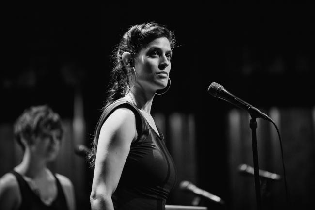 Dessa and Aby Wolf performing at the Fitzgerald Theater