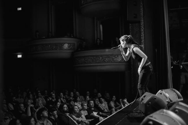 Desssa performing a sold out show at the Fitzgerald Theater