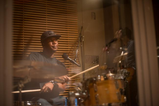 Quentin Joseph, drummer for Mayer Hawthorne and the County
