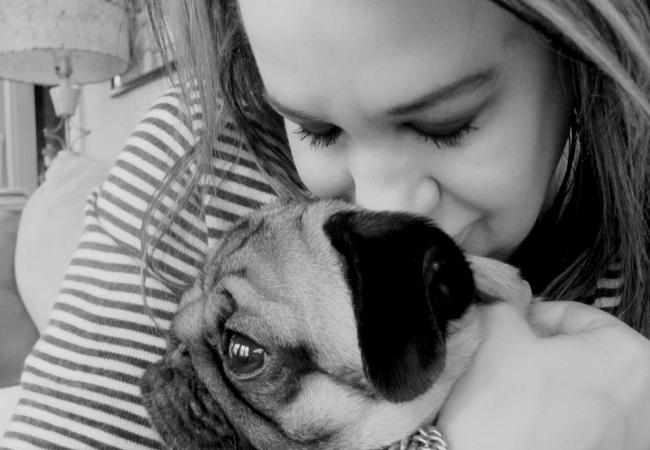 Smudge the Pug with host Mary Lucia