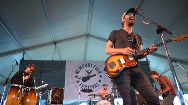 Phosphorescent performs at the 2013 Newport Folk Festival.