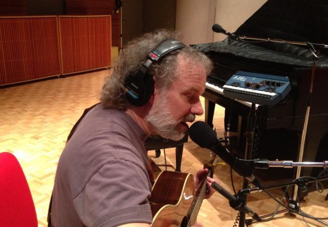 John Gorka in studio