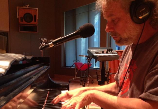 John Gorka tests out the Steinway