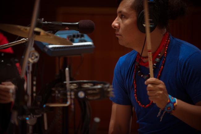 Gogol Bordello drummer Oliver Charles