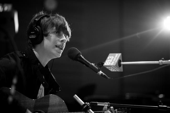 Jake Bugg sound checking in The Current studios