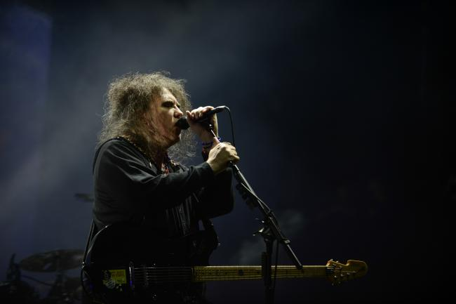 Robert Smith of The Cure at Lollapalooza 2013.