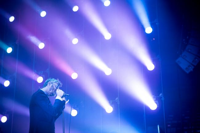 Matt Berninger of The National performing at the Roy Wilkins Auditorium on Aug. 6, 2013, Saint Paul, Minn.