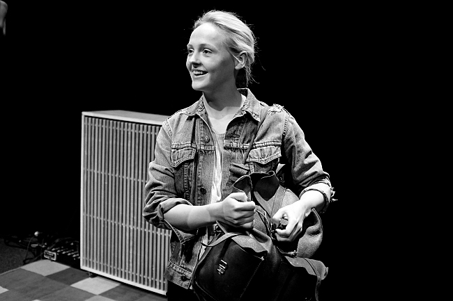 Laura Marling after finishing sound check. August 14, 2013.