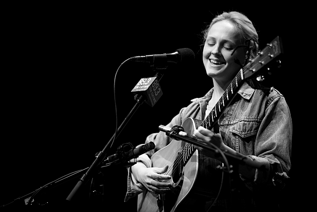 Laura Marling performs in Minnesota Public Radio's UBS Forum for a small audience. August 14, 2013.