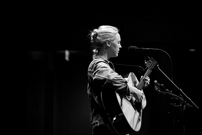 Laura Marling performs in the UBS Forum. August 14, 2013.