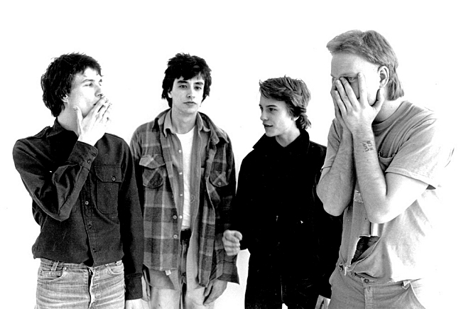 An early promotional photo for The Replacements. Paul Westerberg, Chris Mars, Tommy Stinson and Bob Stinson.