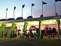State Fair gates at dawn