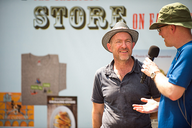 Fred Child and Evan Ziporyn at the 2013 Minnesota State Fair