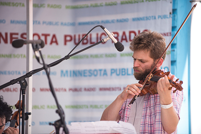 Johnny Gandelsman of Brooklyn Rider at the 2013 Minnesota State Fair