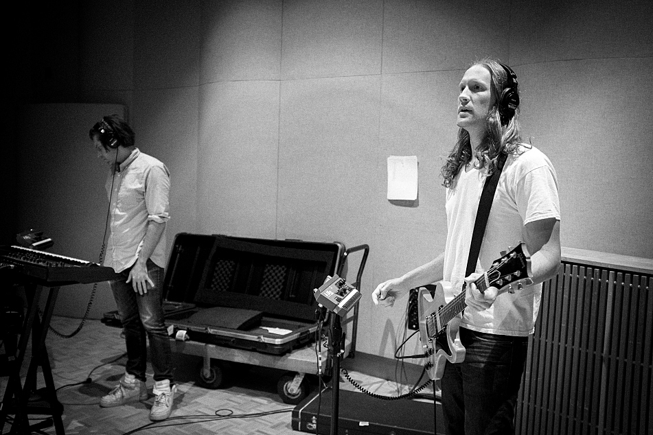 Ian McElroy and Denver Dalley of Desaparecidos perform in studio at The Current.