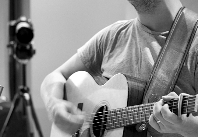 Marcus Mumford performing live in The Current studios. September 4, 2013.