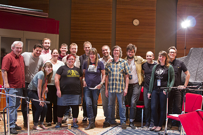 The Current staff (plus Jeremy Messersmith) and Mumford & Sons. September 4, 2013.