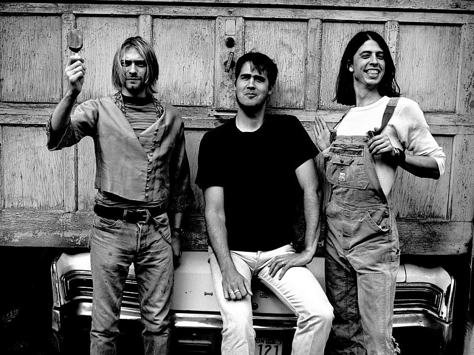 Nirvana in 1993 (from left): Kurt Cobain, Krist Novoselic, Dave Grohl.