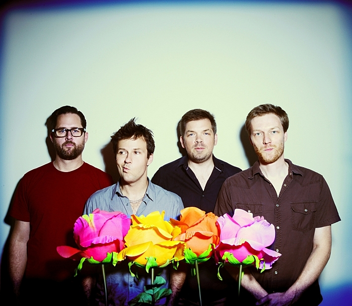The Dismemberment Plan are (left to right) Jason Caddell, Travis Morrison, Eric Axelson, Joe Easley.