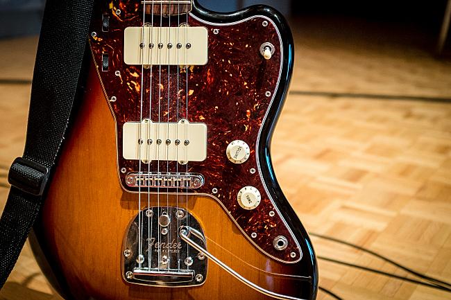 Max Kakacek's guitar, a Fender Jazzmaster.