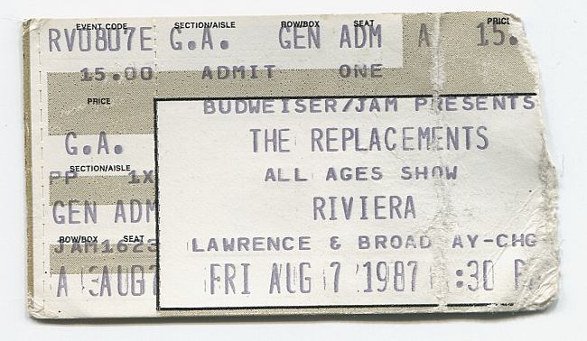 Andy Mead's ticket from the Riviera show