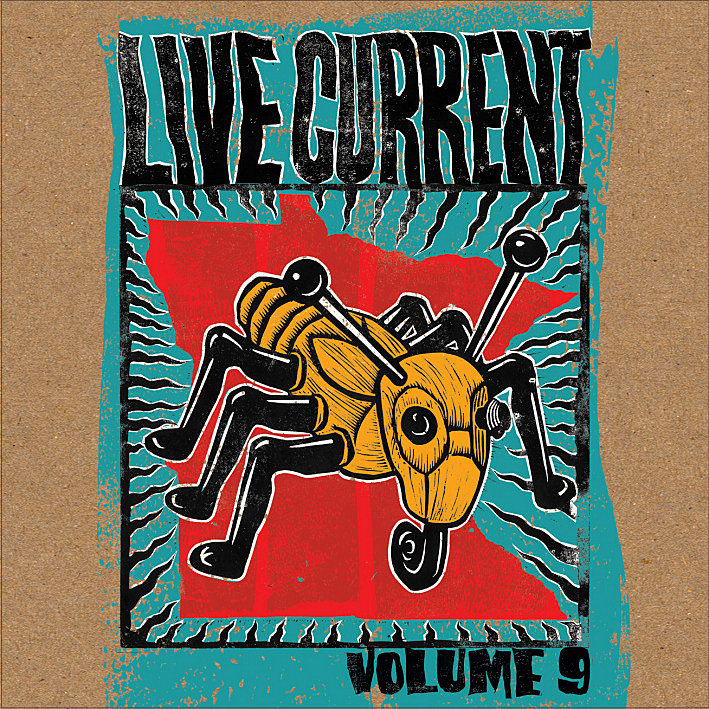 The cover for 'Live Current Vol. 9' the much-anticipated annual compilation of live tracks recorded by The Current